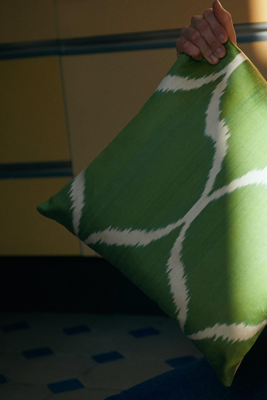 Ikat Kissen Grün